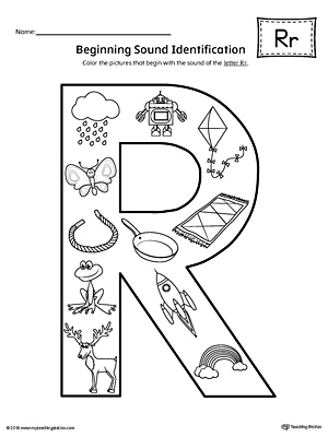 letter r worksheets letter r beginning sound color pictures worksheet 1435
