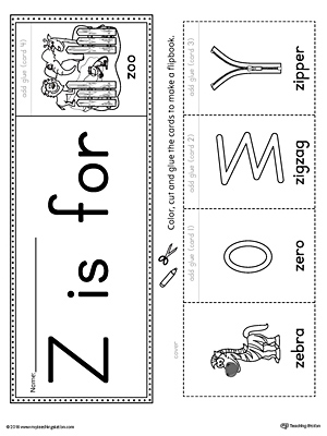 Letter Z Beginning Sound Flipbook Printable on writing printable kindergarten worksheets