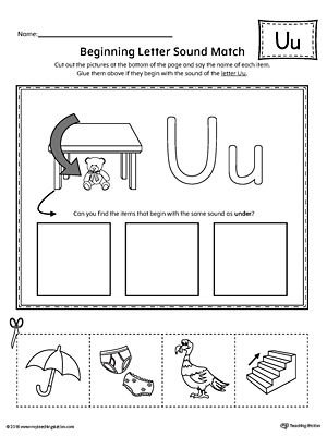 Short letter u beginning sound picture match worksheet short letter u beginning sound picture match worksheet altavistaventures Images