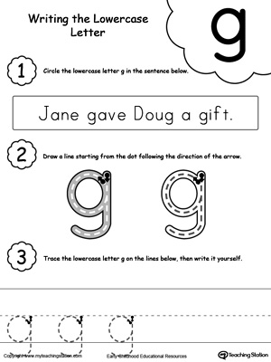 math worksheet : tracing and writing the letter g  myteachingstation  : Letter G Worksheets For Kindergarten