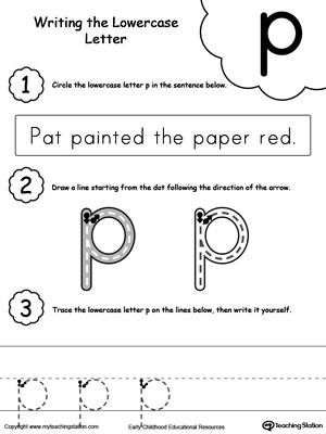 Writing Lowercase Letter P