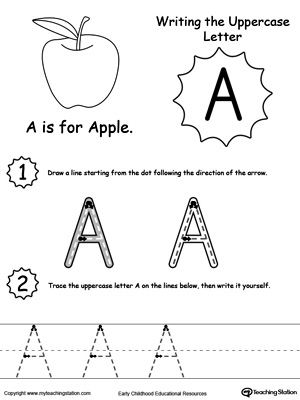 The Letter A is for Apple | MyTeachingStation.com