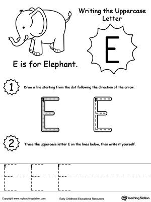 Printable Letter E Worksheets – 2017 Calendar