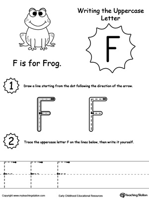 Writing Uppercase Letter F