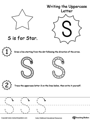 Writing Uppercase Letter S Myteachingstation