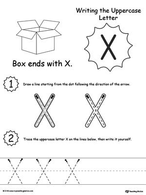 writing uppercase letter x. Black Bedroom Furniture Sets. Home Design Ideas