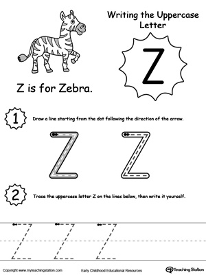 Writing Uppercase Letter Z