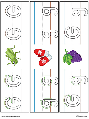 Alphabet Letter G Formation Card Printable (Color ...