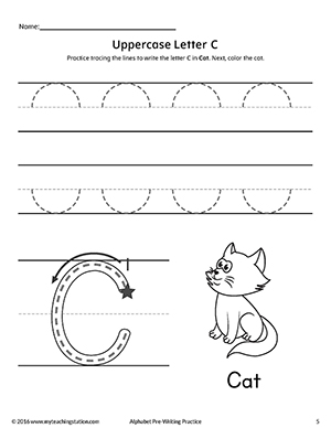 Early Childhood Pre-Writing Worksheets | MyTeachingStation.com