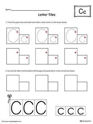 Letter C Tracing and Writing Letter Tiles