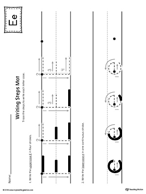 Short letter e beginning sound picture match worksheet letter e writing steps mat printable spiritdancerdesigns Choice Image