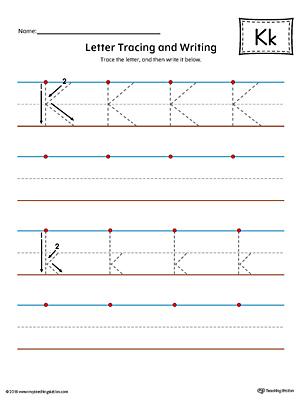 Letter K Beginning Sound Picture Match Worksheet Color