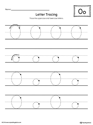 Letter O Tracing Printable Worksheet