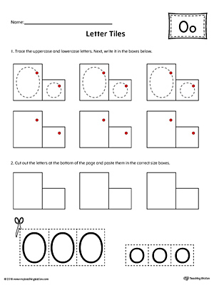 Letter O Tracing and Writing Letter Tiles