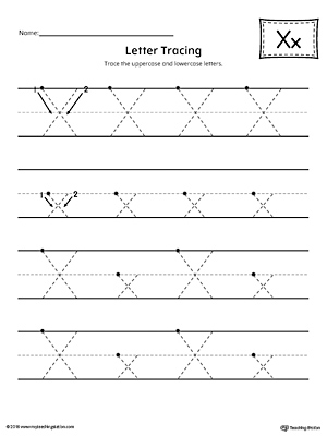 Learning the Letter X Worksheet | MyTeachingStation.com