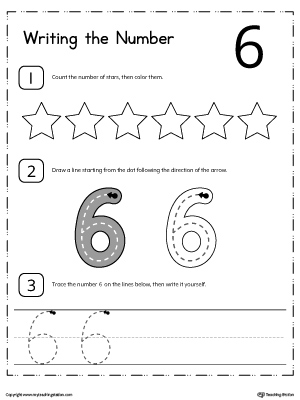 kindergarten writing numbers printable worksheets  learn to count and write number