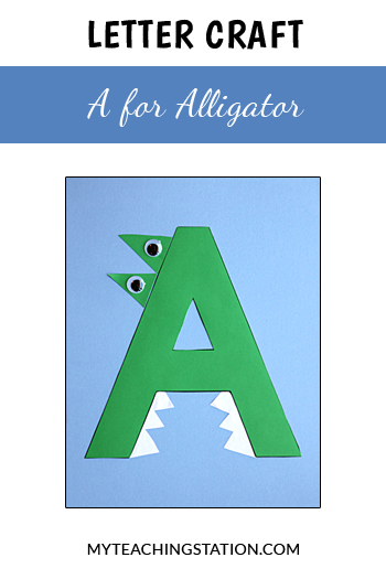 Alligator Letter Craft for Letter A