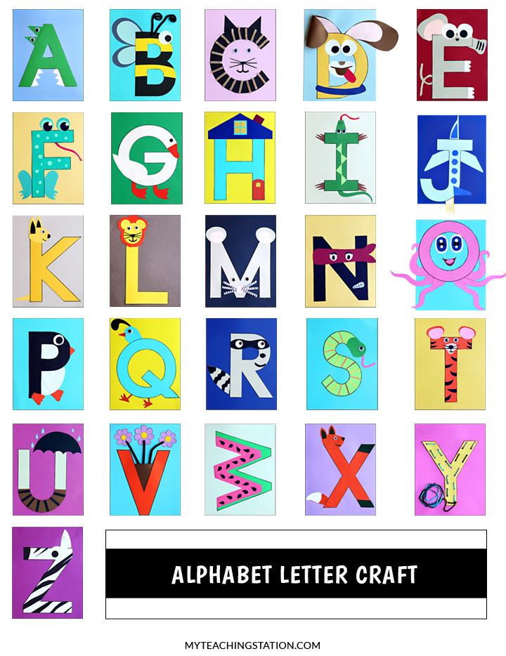 Alphabet Letter Craft for Preschool and Kindergarten