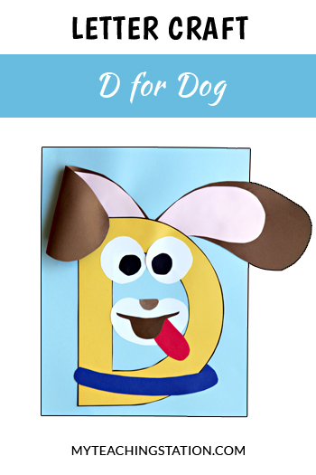 Dog Letter Craft for Letter D