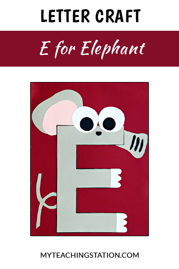 Elephant Letter Craft for Letter E