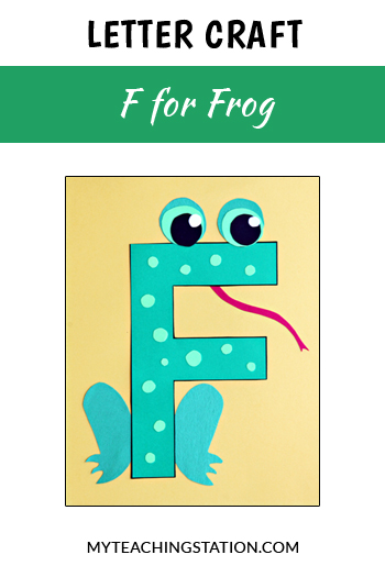 Frog Letter Craft for Letter F