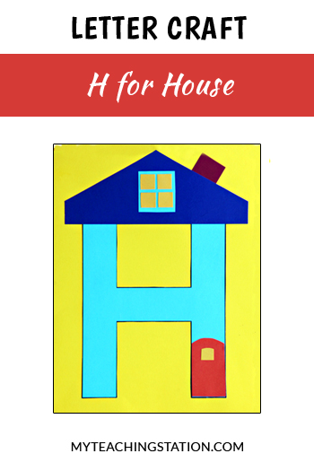 House Letter Craft for Letter H