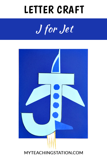 Jet Letter Craft for Letter J