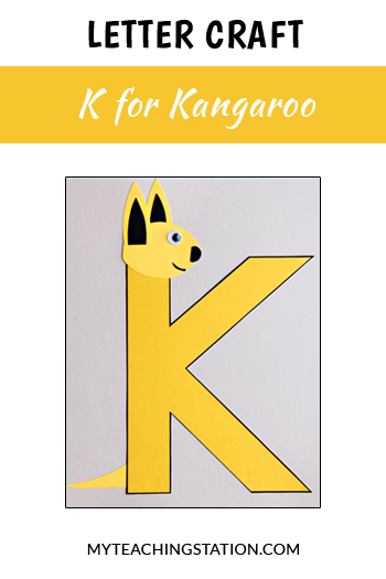 kangaroo letter craft for letter k