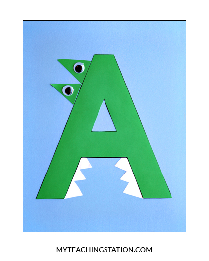 Letter A Craft Alligator