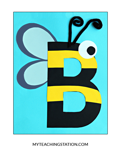 cut out letter b cardboard ea supplies letter b craft bee myteachingstation 680