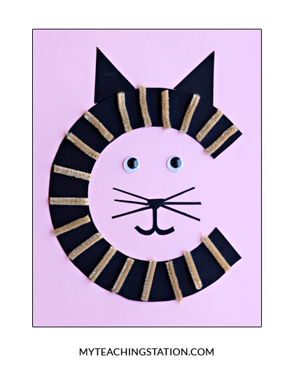 Letter C Craft Cat Myteachingstation Com