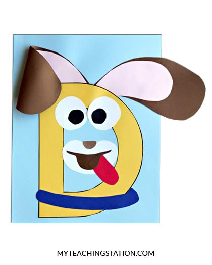 Letter D Craft Dog