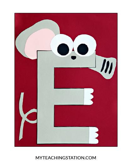 Letter E Craft Elephant