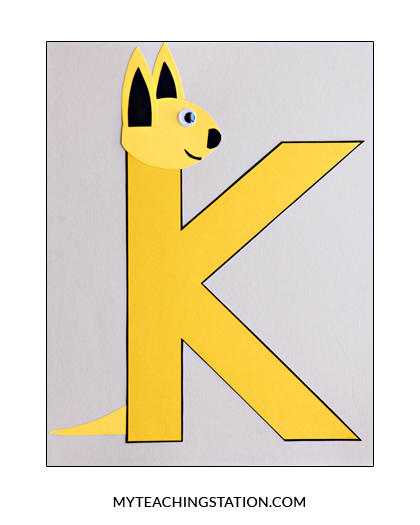 Letter K Craft Kangaroo