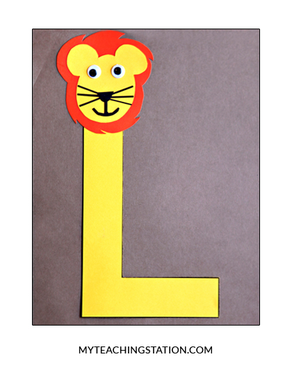 Letter L Craft Lion
