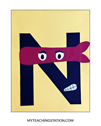 Letter N Craft Ninja