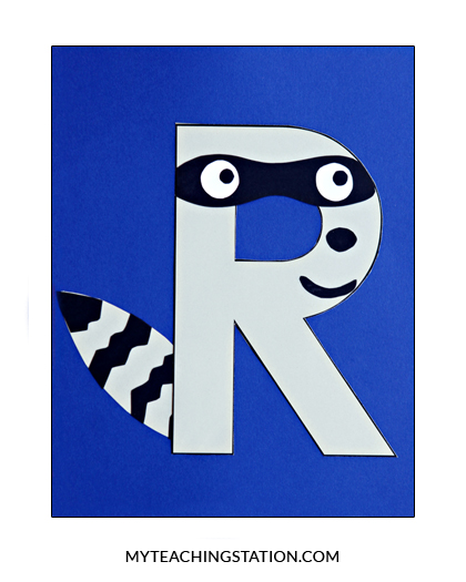 Letter R Craft Raccoon