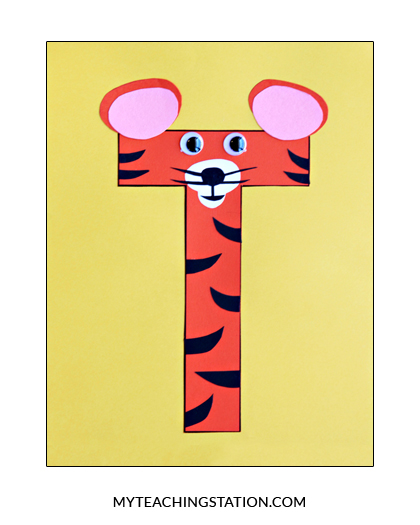 Letter T Craft Tiger