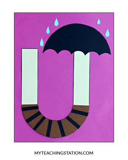 Letter U Craft Umbrella