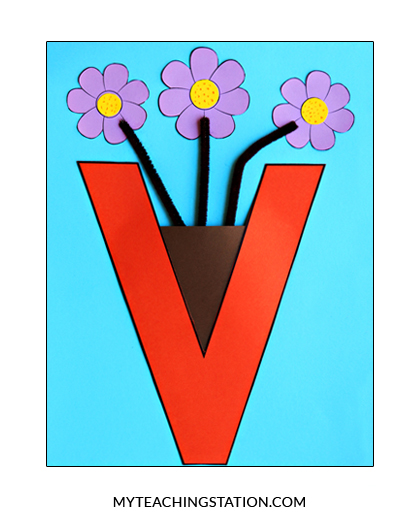 Letter V Craft: Vase | MyTeachingStation.com