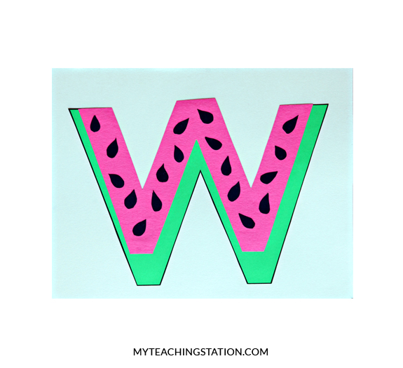 Letter W Craft Watermelon