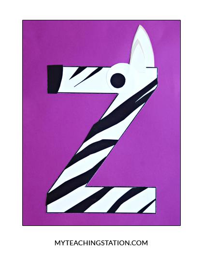 Letter Z Craft Zebra Myteachingstation Com