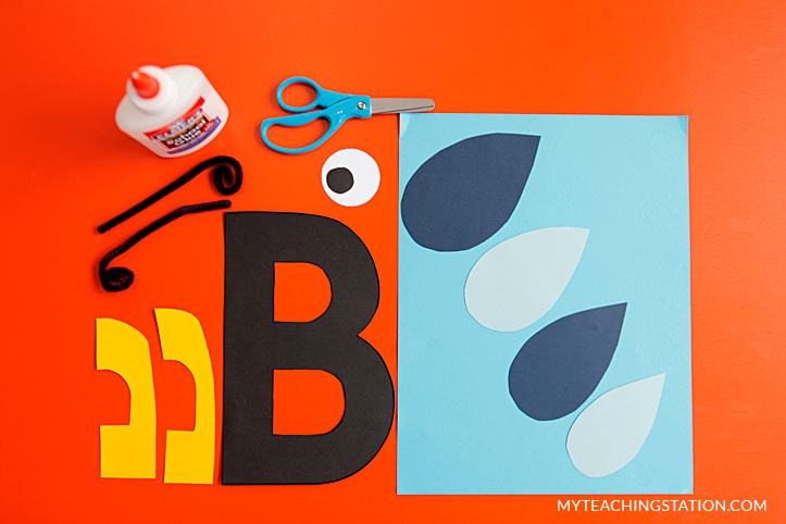 Letter B Craft Materials for Making an Bee