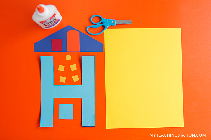 Letter H Craft Materials for Making an House