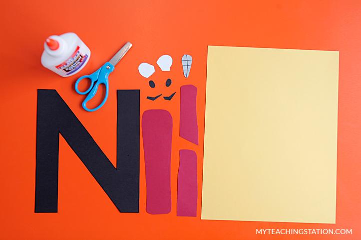 Letter N Craft Ninja Myteachingstation Com
