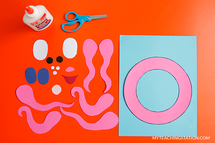Letter O Craft Materials for Making an Octopus