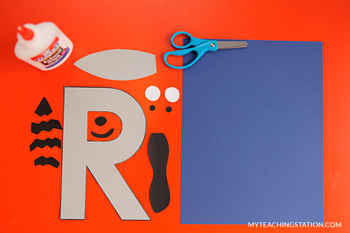 Letter R Craft Materials for Making an Raccoon