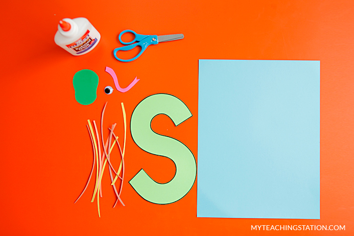 Letter S Craft Materials for Making an Snake