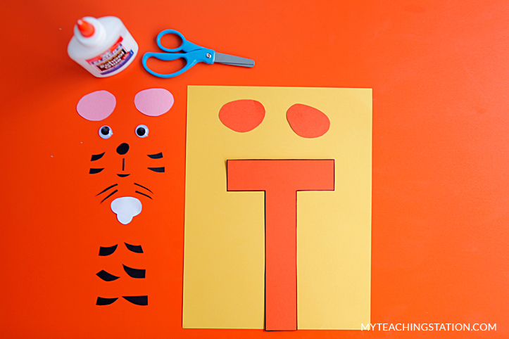 Letter T Craft Materials for Making an Tiger