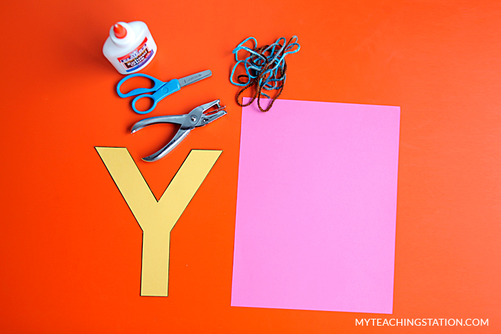 Letter Y Craft Materials for Making an Yarn